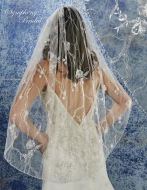 Symphony Bridal Wedding Veil - 6933VL - Embellished Veil