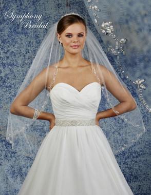 Symphony Bridal Wedding Veil - 6934VL - Embellished Veil