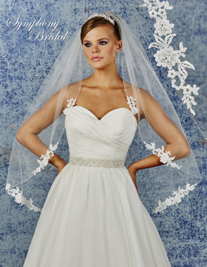 Symphony Bridal Wedding Veil - 6935VL - Lace Edge