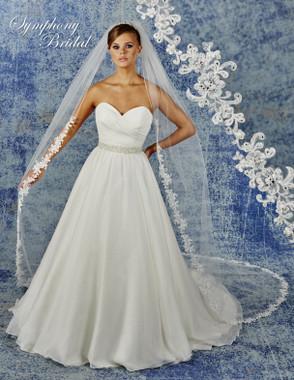 Symphony Bridal Wedding Veil - 6940VL - Lace Edge