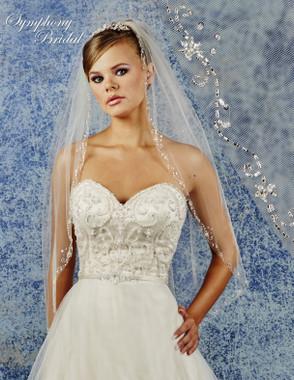 Symphony Bridal Wedding Veil - 6944VL - Embellished Veil