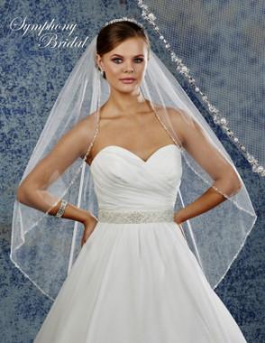 Symphony Bridal Wedding Veil - 6922VL - Embellished Veil