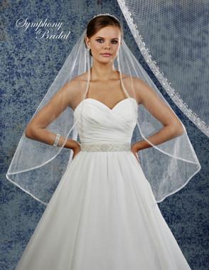 Symphony Bridal Wedding Veil - 6931VL - Embellished Veil