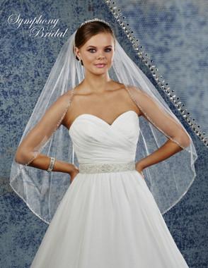 Symphony Bridal Wedding Veil - 6932VL - Embellished Veil