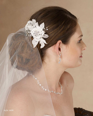 Marionat Bridal 4698 Lace flower clip with rhinestone - Le Crystal Collection