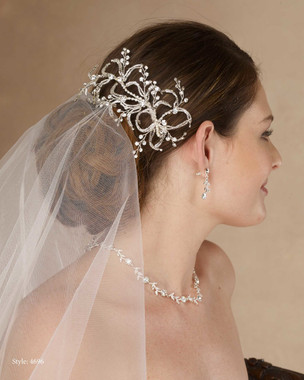 Marionat Bridal 4696 Bugle bead and rhinestone clip - Le Crystal Collection