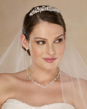 Marionat Bridal 4694 Rhinestone and crystal top comb - Le Crystal Collection