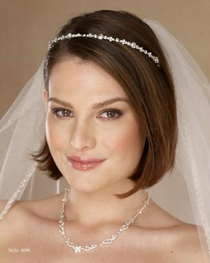 Marionat Bridal 4686 Thin rhinestone band - Le Crystal Collection