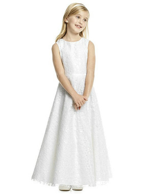 Dessy Flower Girl Dress FL4056 - Sequin Illusion