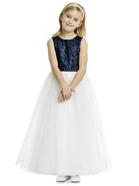 Dessy Flower Girl Dress FL4055 - Studio Sequin and Tulle