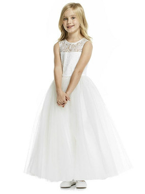 Dessy Flower Girl Dress FL4052 - Marquis Lace
