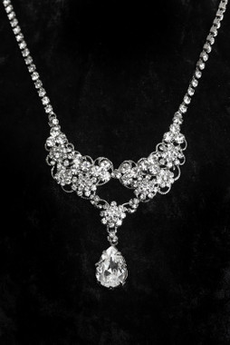 Erica Koesler Necklace J-9413 - Rhinestone filigree