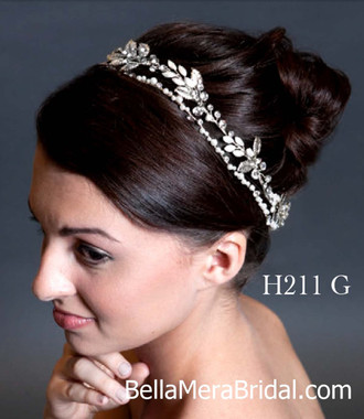 Giselle Bridals Headpiece H211G(SI)