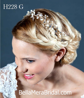 Giselle Bridals Headpiece H228G(SI)