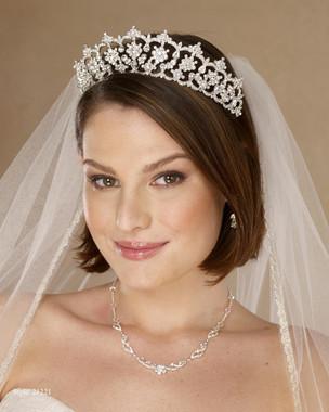 Marionat Bridal 21221 Rhinestone tiara - The Royal Collection