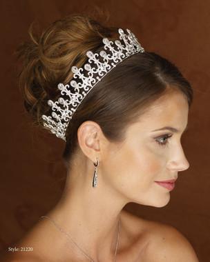 Marionat Bridal 21220 Rhodium rhinestone crown -The Royal Collection