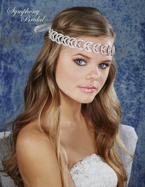 Symphony Bridal Hair Wrap - HW637