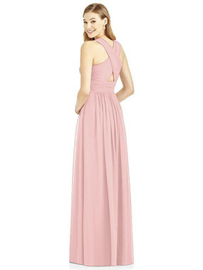 After Six Dress Style 6752 - Rose - PANTONE Rose Quartz - Lux Chiffon - In Stock Dress