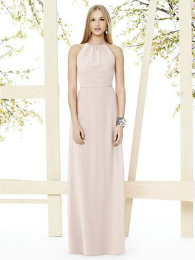 Social Bridesmaids Dress Style 8151 - Matte Chiffon - Blush - In Stock Dress