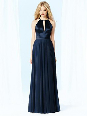 After Six Dress Style 6705 - Midnight - Lux Chiffon - In Stock Dress