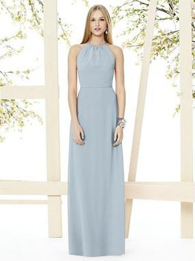 Social Bridesmaids Dress Style 8151 - Matte Chiffon - Mist - In Stock Dress