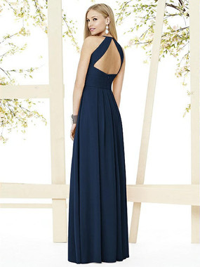 Social Bridesmaids Dress Style 8151 - Matte Chiffon - Midnight - In Stock Dress