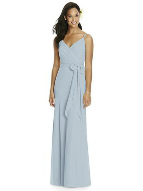 Social Bridesmaids Dress Style 8181 - Matte Chiffon - Mist - In Stock Dress
