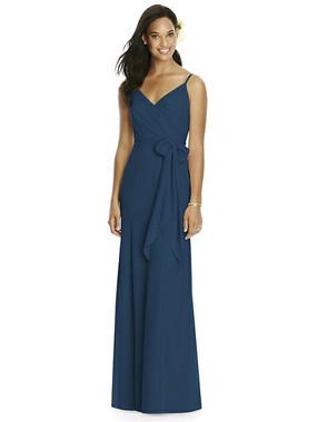 Social Bridesmaids Dress Style 8181 - Matte Chiffon - Sofia Blue - In Stock Dress