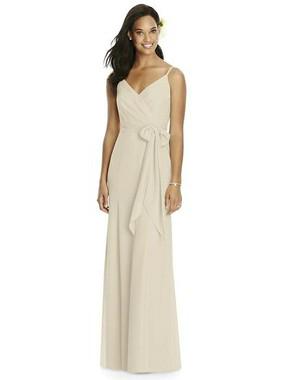 Social Bridesmaids Dress Style 8181 - Matte Chiffon - Palomino - In Stock Dress