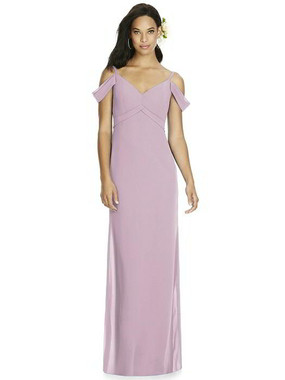 Social Bridesmaids Dress Style 8183 - Matte Chiffon - Suede Rose - In Stock Dress