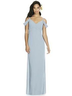 Social Bridesmaids Dress Style 8183 - Matte Chiffon - Mist - In Stock Dress