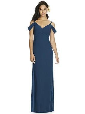 Social Bridesmaids Dress Style 8183 - Matte Chiffon -  Sofia Blue - In Stock Dress