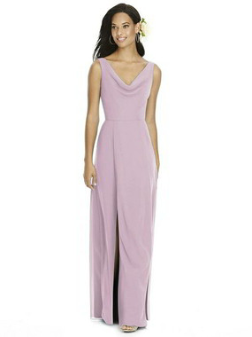Social Bridesmaids Dress Style 8180 - Matte Chiffon - Suede Rose - In Stock Dress