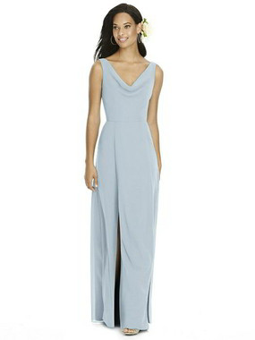 Social Bridesmaids Dress Style 8180 - Matte Chiffon - Mist - In Stock Dress