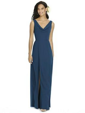 Social Bridesmaids Dress Style 8180 - Matte Chiffon - Sofia Blue- In Stock Dress