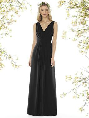 Social Bridesmaids Dress Style 8157 - Matte Chiffon - Black - In Stock Dress
