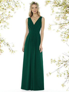 Social Bridesmaids Dress Style 8157 - Matte Chiffon - Hunter- In Stock Dress