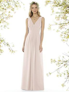 Social Bridesmaids Dress Style 8157 - Matte Chiffon - Blush - In Stock Dress