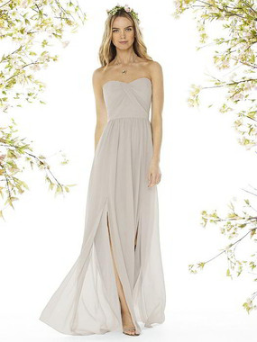 Social Bridesmaids Dress Style 8159 - Matte Chiffon - Oyster- In Stock Dress