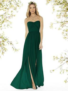 Social Bridesmaids Dress Style 8159 - Matte Chiffon - Hunter- In Stock Dress