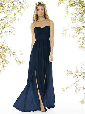 Social Bridesmaids Dress Style 8159 - Matte Chiffon - Midnight - In Stock Dress