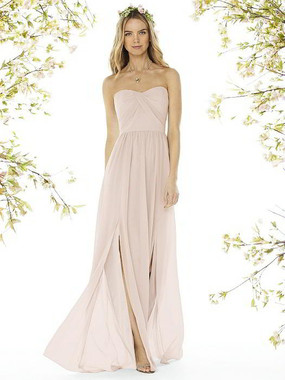 Social Bridesmaids Dress Style 8159 - Matte Chiffon - Blush - In Stock Dress