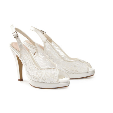 Affinity Ivory Mesh Lace - Pink By Paradox Shoe