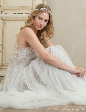 Bel Aire Bridal 6760 - Halo Of Rhinestones And Crystals