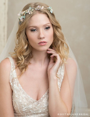 Bel Aire Bridal 6781 - Nature-inspired headband of leaves