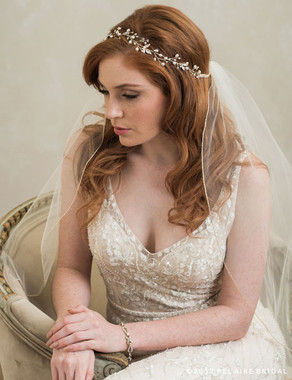 Bel Aire Bridal 6783 - Garland Of Pearls And Rhinestones