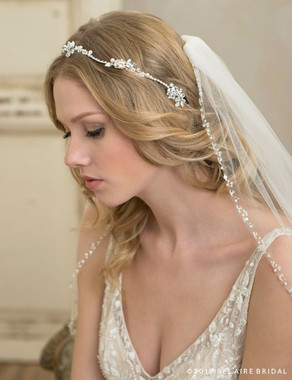 Bel Aire Bridal 6790 - Tie Garland Of Rhinestones And Pearls