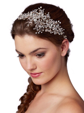 Rose Gold Wedding Hair Vine with Lavish Crystals Sprays 4380H-CR-RG
