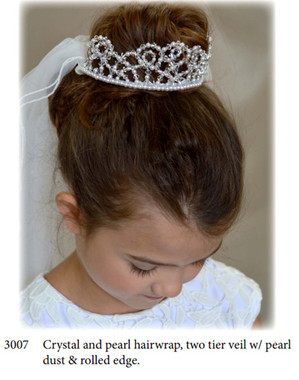Nan & Jan Style 3007 - Headpiece & Veil Set  or Headpiece Only