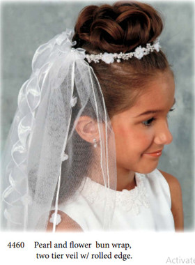 Nan & Jan Style 4460 - Headpiece & Veil Set  or Headpiece Only